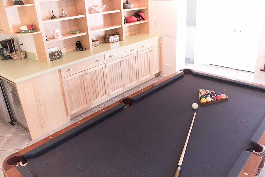 Our pool room, where you can enjoy leisure activities while you find recovery from your addiction.