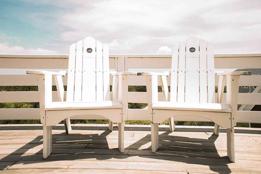 A pair of chairs on the Outer Banks